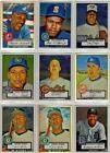 1952 Topps Baseball Card Lot