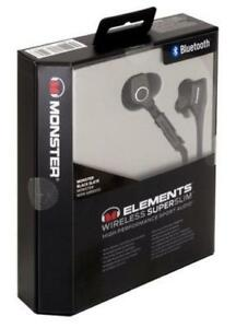 Monster Elements Wireless Supersim High performance Earphones   Brand new sealed.