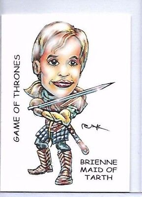 GAME OF THRONES BRIENNE MAID OF TARTH ** TRADING CARD ART SIGNED by RAK ** NM