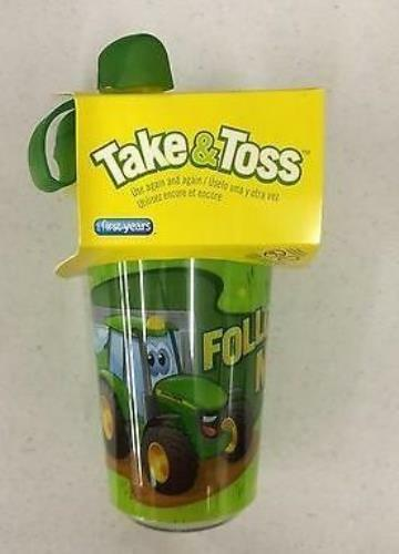 TBEKY9613A1 John Deere Licensed Take & Toss Sippy Cup - 3 Pack