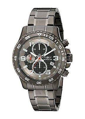 INVICTA Specialty Men's 45mm Stainless Steel Gunmetal Black dial Watch 14879