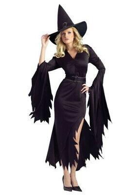 Spirit Halloween Vamp  Costume Gothic Witch Dress Hat Costume Dress Adult M / L