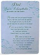 Memorial Cards Dad