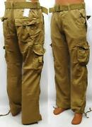 Mens Khaki Cargo Pants