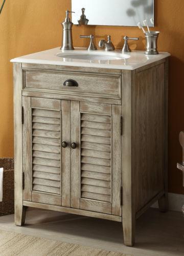 Distressed Bathroom Vanities cottage vanity | ebay