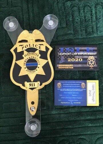iSupportLE POLICE CAR SHIELD- NJSP-FOP- PBA-LAW ENFORCEMENT
