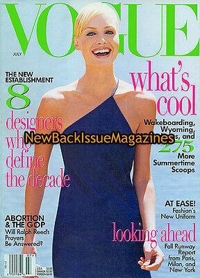 Vogue 7 96 Amber Valletta July 1996 New