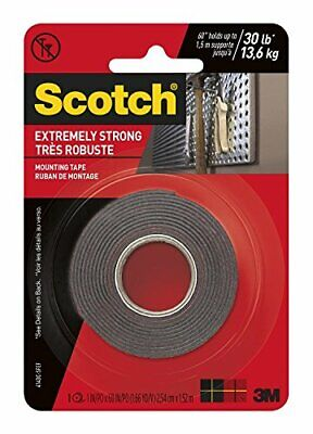 3m Scotch Extreme Mounting Tape 1 By 60-inch Black