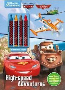 Disney Pixar Cars & Disney Planes High-Speed Adventures Plus 4 C by Parragon Boo