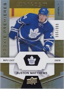 Auston Matthews Rookie Card, Trilogy