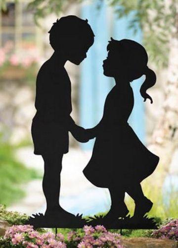 Yard silhouettes ebay - Schattenbilder kinder ...
