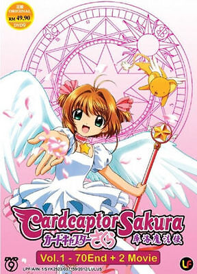 Cardcaptor Sakura Complete Tv Series Ep 1 70   2 Movies Dvd Free Ship