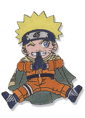 "Naruto Movie Naruto Sitting Figure Embroidered 3"" Patch"