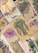 Vintage Floral Postcards