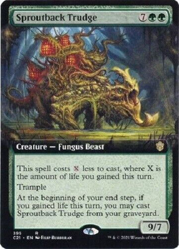 Mtg *sproutback Trudge Extended Art X1* (nm) Cmd21 Magic Free Shipping