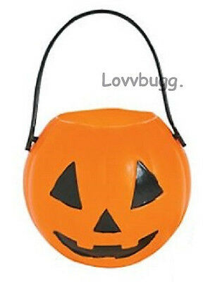Halloween Pumpkin Best Trick or Treat Pail Bucket for American Girl Doll Wellie