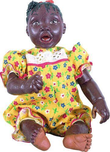 Black Porcelain Baby Doll Ebay