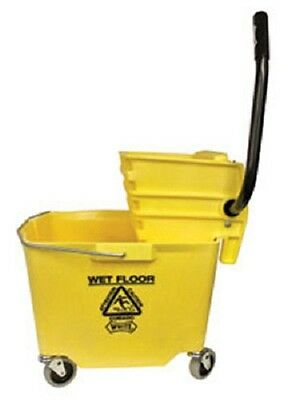 Impact 6y2635-3y 35 Quart Sidepress Squeeze Wheeled Commercial Mop Bucket