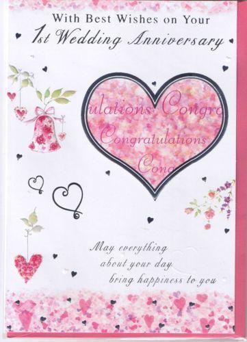First wedding anniversary card ebay for What to get for first wedding anniversary