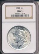 Peace Dollar MS