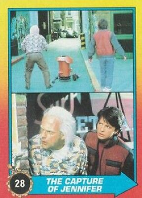 Jennifer Back To The Future (1989 Topps Back To The Future II #28 The Capture Of Jennifer > Doc > Marty)