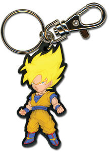 Dragonball Z SS Goku PVC Key Chain Manga Licensed MINT