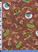 Coffee Cup Fabric