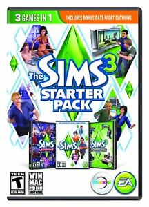 Sims 3 starter pack with 2 expansion packs