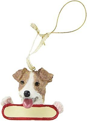 (Jack Russell Terrier Dog Santa's Pal Christmas Ornament)