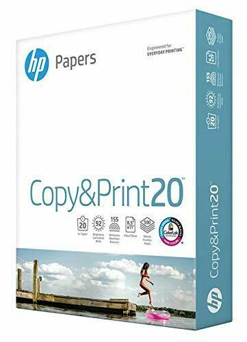 HP Printer Paper Copy & Print 8.5 x 11 Office Letter Size 500 Sheets Matte Finis