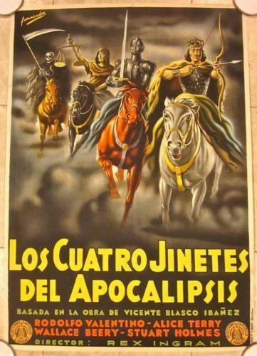 REDUCED AGAIN!! FOUR HORSEMEN OF THE APOCALYPSE - R25 SP. POSTER - VALENTINO!!