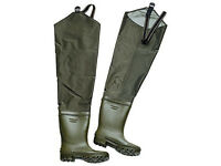 Fladen Waterproof Thigh /Hip Waders rubber boots 41 Fishing