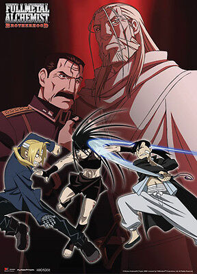 Fullmetal Alchemist Villains Wall Scroll Anime Manga Cloth Poster NEW