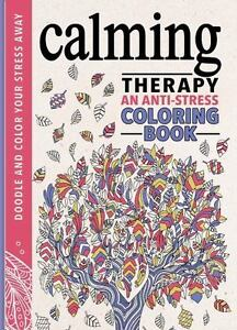 calming therapy stress relief coloring book