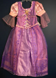 Disney Store RAPUNZEL Tangled Costume Dress M 10/12