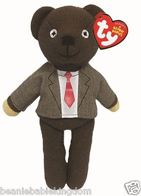 "TY Beanie * Mr Bean * Teddy Bear in Jacket & Tie Soft Toy 10"" - 46226"