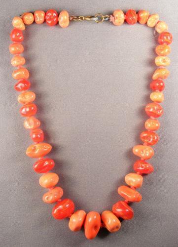 Antique Coral Necklace Ebay