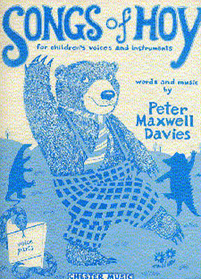 Peter Maxwell Davies Songs Of Hoy Voice Recorder Piano Guitar Music Book