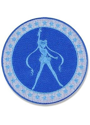 Sailor Moon Blue Silhouette Embroidered Iron On/Sew On Patch Licensed Product