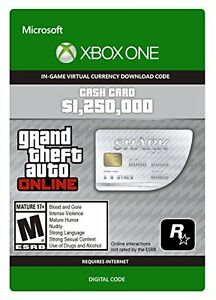 Xbox One- GTA 5 Great White Shark Card