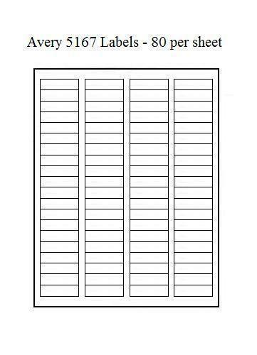 Avery 5167 labels ebay for Avery 2 x 3 label template