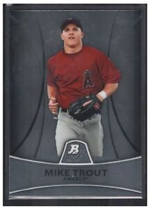 MIKE TROUT 2010 BOWMAN PLATINUM PROSPECTS RC #PP5 LA ANGELS ROOKIE CARD SP BV$15