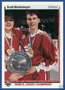 SCOTT NIEDERMAYER .... ONLY ROOKIE CARD .... 1990-91 Upper Deck