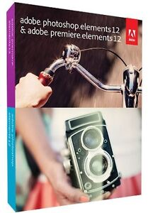 New Adobe Photoshop & Premiere Elements 12 Full Version Retail for Windows & Mac