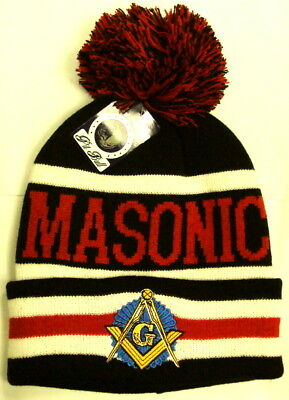 Mason Masonic Freemasonry Freemason Masonry Grand Lodge Knit Pom Beanie Cap Hat