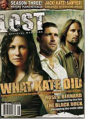 LOST OFFICIAL MAGAZINE - JOSH HOLLOWAY - TERRY O'QUINN - EVANGELINE LILLY #5A
