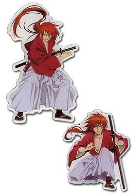 *NEW* Rurouni Kenshin OVA: Kenshin Action Pin Set of 2 by GE Animation