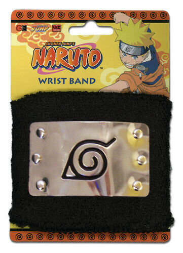 Naruto Leaf Village Metal Sign Wrist Band *NEW*