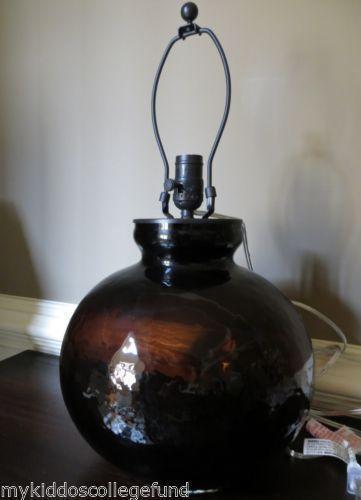 pottery barn glass lamp ebay. Black Bedroom Furniture Sets. Home Design Ideas