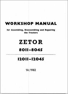 Zetor 8011 8045 12011 12045 Tractor Service Repair Workshop Manual (0144) na sprzedaż  Wysyłka do Poland